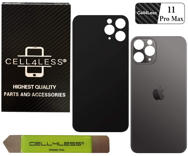 Apple iPhone 11 Pro Max Back Glass OEM Replacement Battery Door Cover - All Colors Available - CELL4LESS