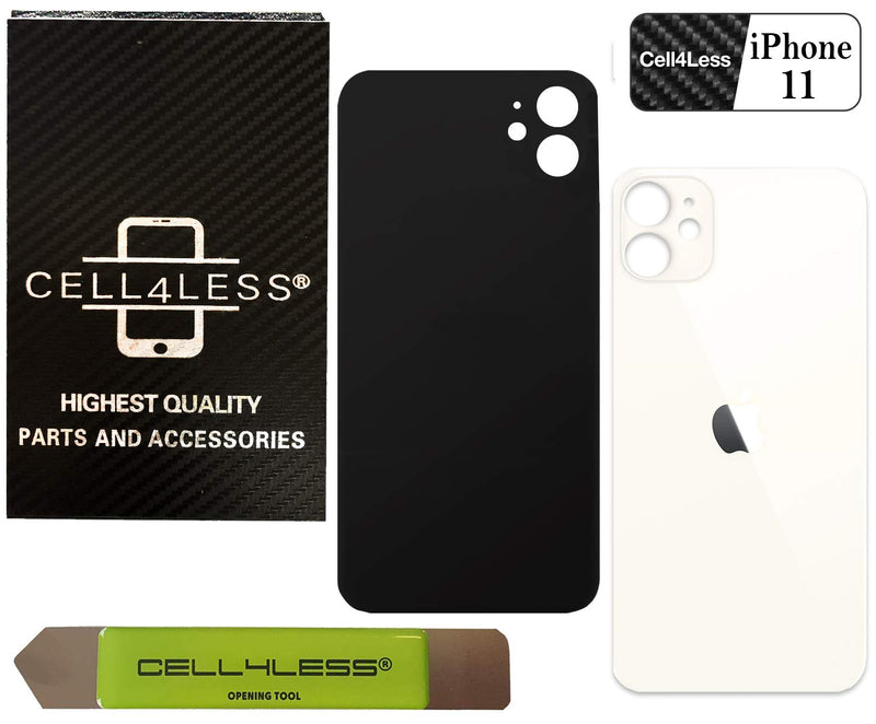 Apple iPhone 11 Back Glass OEM Replacement Battery Door Cover with Wide Camera Slot - CELL4LESS