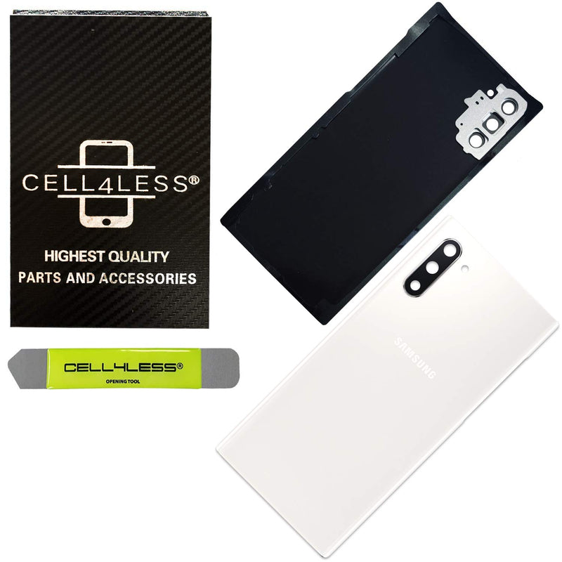 Samsung Galaxy Note 10 Back Glass Battery Door Cover Replacement w/ Pre-Installed Camera Lens - N970 - CELL4LESS