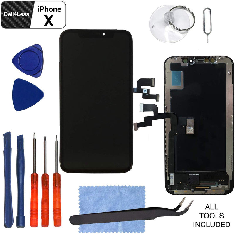 Apple iPhone X Hard OLED Touch Screen Digitizer Replacement Assembly Kit - CELL4LESS