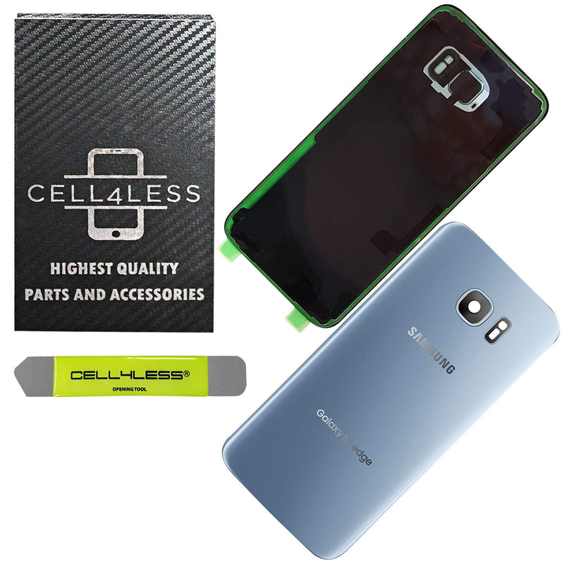 Samsung Galaxy S7 EDGE Back Glass Replacement with Camera Lens Installed - Removal Tool Included - G935 - CELL4LESS