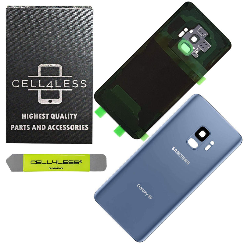 Samsung Galaxy S9 Back Glass Replacement with Camera Lens Installed - Removal Tool Included - G960 - CELL4LESS