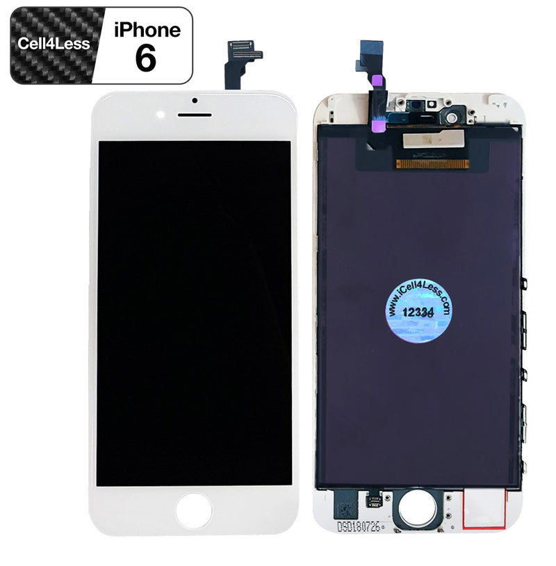 Apple iPhone 6 WHITE LCD Touch Screen & Digitizer Replacement - CELL4LESS