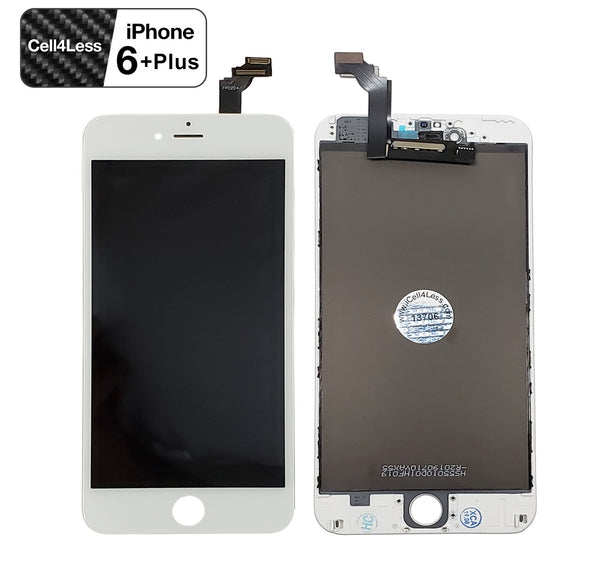 Apple iPhone 6 PLUS WHITE LCD Touch Screen & Digitizer Replacement Assembly Kit - CELL4LESS