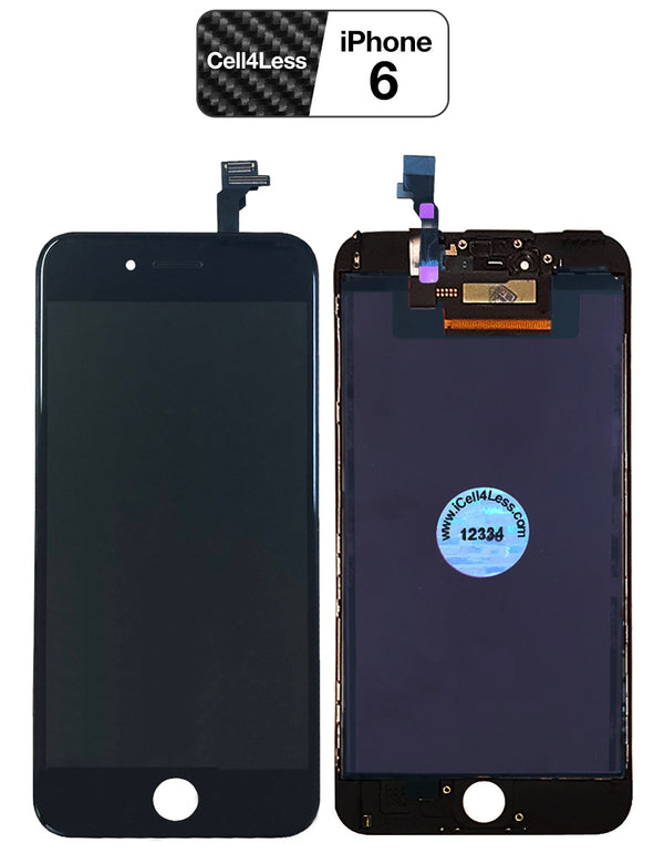 Apple iPhone 6 BLACK LCD Touch Screen & Digitizer Replacement Assembly - CELL4LESS