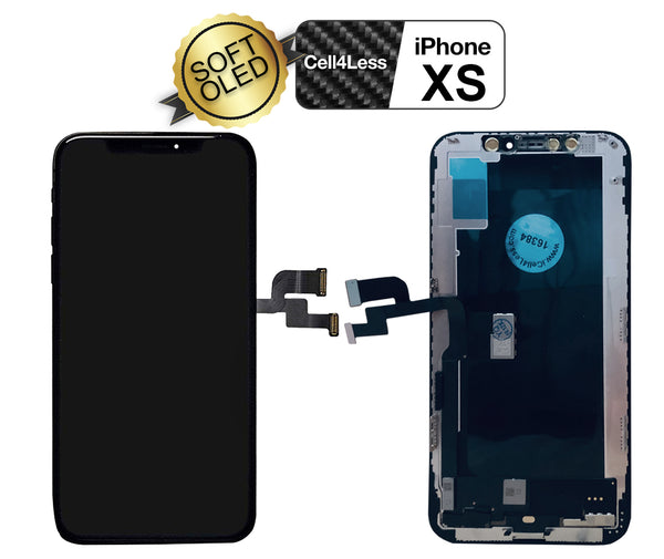 Apple iPhone XS 5.8 Inch Soft OLED Touch Screen Replacements With Assembly Tools Included - CELL4LESS