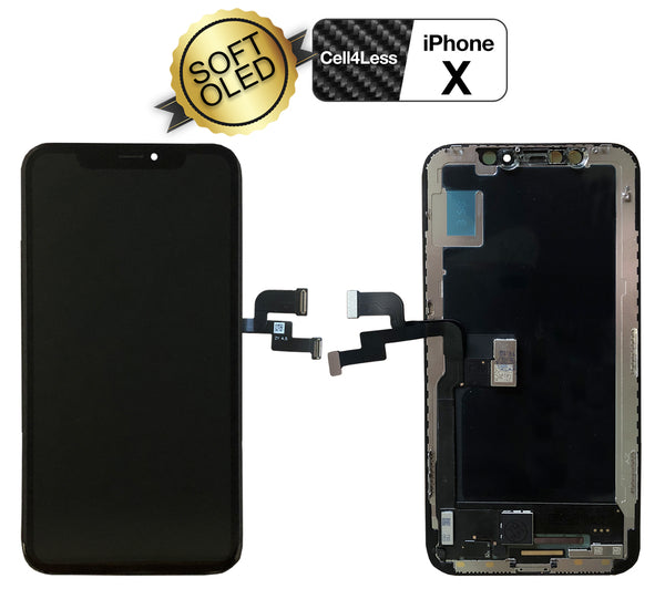 iPhone X 5.8 Inch Soft OLED Screen Flexible and Premium Quality Replacement - CELL4LESS