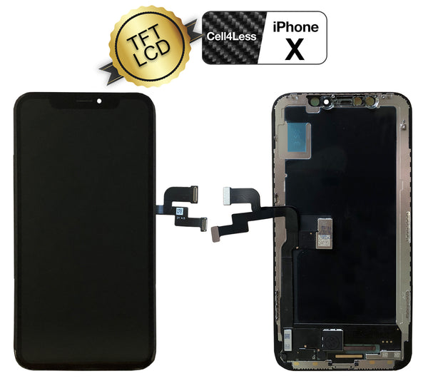 Apple iPhone X LCD Replacement TFT Glass Display Screen Replacement KIT + Tools - CELL4LESS