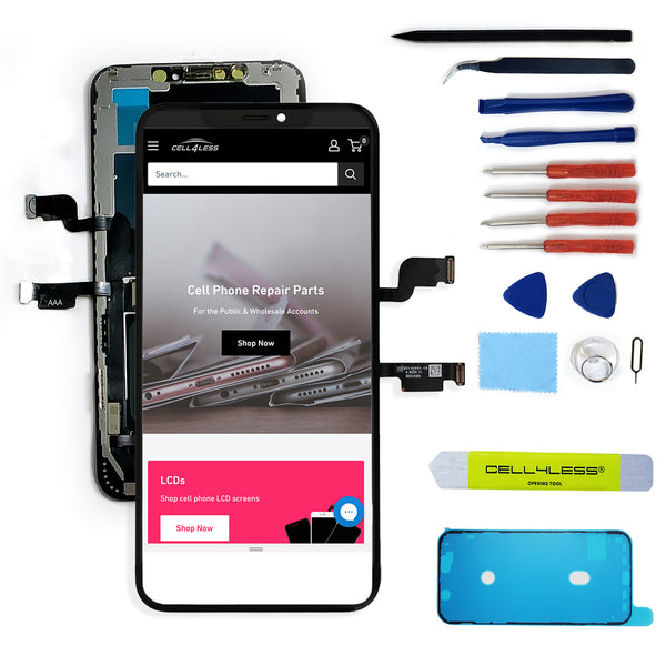 Apple iPhone XS MAX LCD Touch Screen Replacement With Assembly Tools Included - CELL4LESS