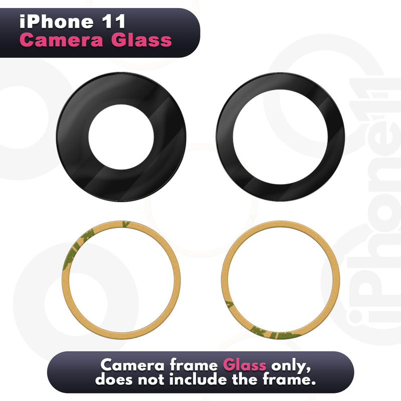 iPhone 11 Replacement Camera Glass Kit for iPhone w/Removal Tools & Adhesives (2 Pack) OEM Quality HD Crystal Clear Glass DIY Kit - Fits All Carriers - CELL4LESS