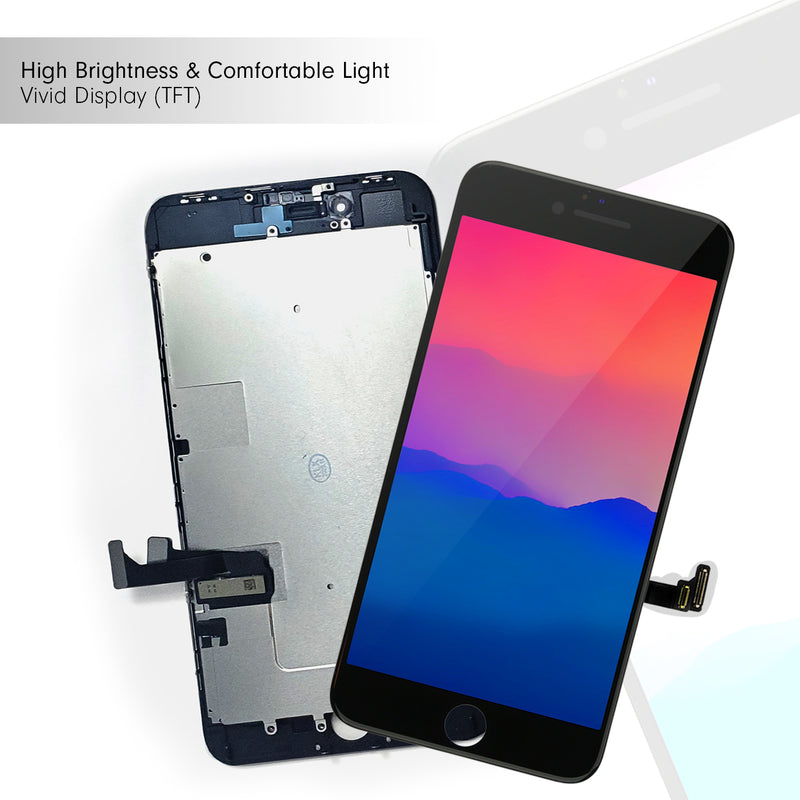 iPhone 8 PLUS BLACK LCD Screen Replacement (5.5 Inch) - CELL4LESS