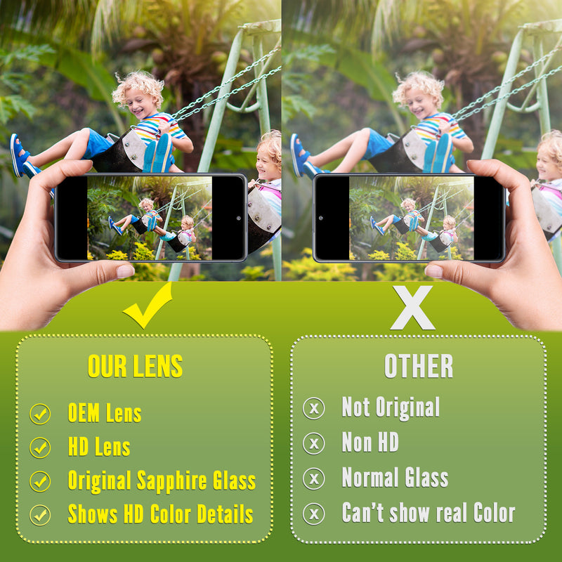 Galaxy S20 FE Replacement Camera Glass Kit for iPhone w/Removal Tools & Adhesives (2 Pack) OEM Quality HD Crystal Clear Glass DIY Kit - Fits All Carriers - CELL4LESS