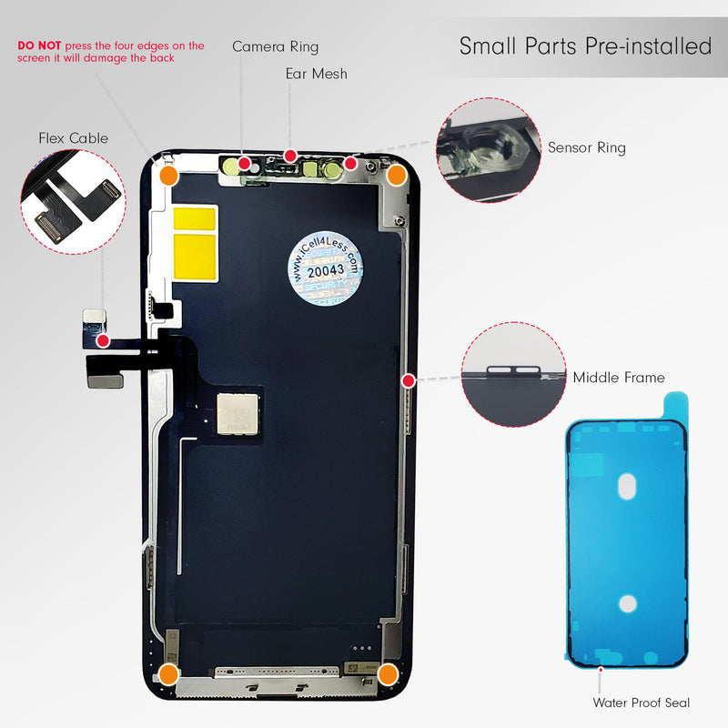 Apple iPhone 11 Pro Max LCD 3D Touch Screen & Digitizer Replacement Assembly Kit ( Incell ) - CELL4LESS