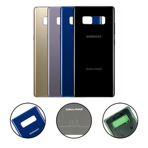 Samsung Galaxy Note 8 Back Glass MIDNIGHT BLACK Replacement Battery Door Cover - CELL4LESS
