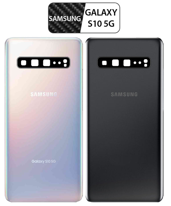 Samsung Galaxy S10 5G Back Glass Replacement with Camera Lens & Pre-Installed Adhesive SM-G977 - CELL4LESS