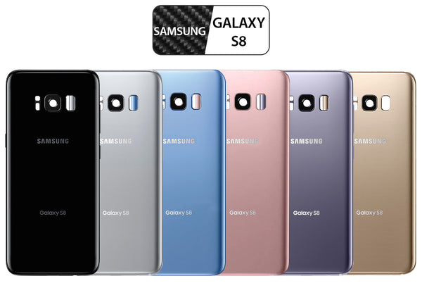 Samsung Galaxy S8 Back Glass Replacement with Camera Lens Installed - ALL COLORS AVAILABLE - G950 - CELL4LESS