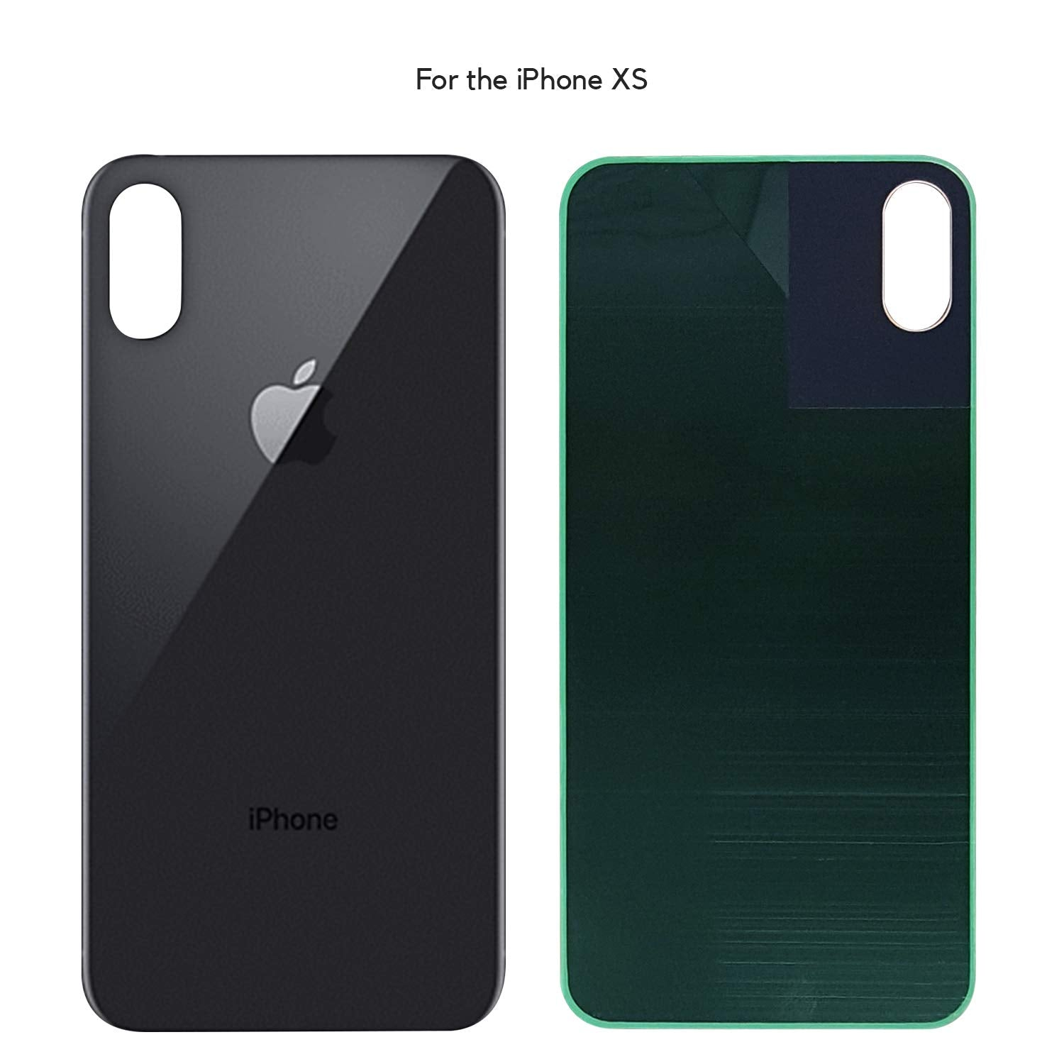 meet 61154 6c3e4 Apple iPhone XS Back Glass SPACE GRAY OEM Replacement Battery Door Cover