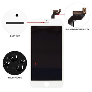 iPhone 6S PLUS WHITE LCD Screen Replacement Kit (5.5 Inch) - CELL4LESS