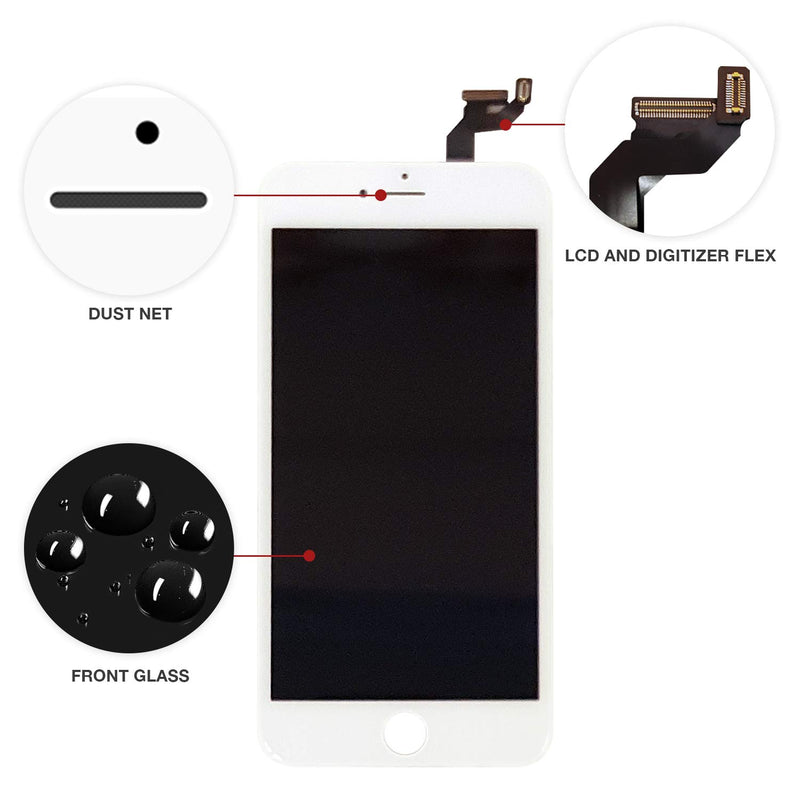 iPhone 6S PLUS WHITE LCD Screen Replacement (5.5 Inch) - CELL4LESS