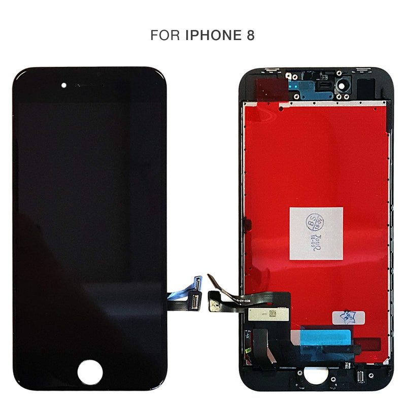 iPhone 8 BLACK LCD Screen Replacement Kit (4.7 Inch) - CELL4LESS