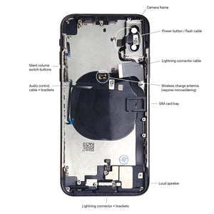 Apple iPhone X SPACE GRAY Rear Housing Midframe Assembly w/ Pre-Installed Components - CELL4LESS