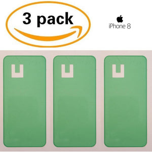 Adhesive (3 pack) for Back Glass Battery Door Replacement - iPhone 8 - CELL4LESS