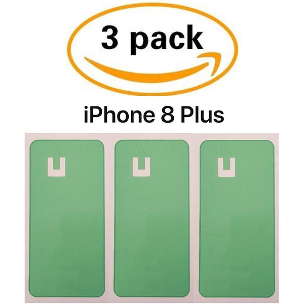 Adhesive (3 pack) for Back Glass Battery Door Replacement - iPhone 8 Plus - CELL4LESS