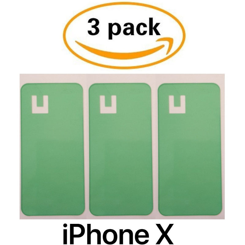 Adhesive (3 pack) for Back Glass Battery Door Replacement - iPhone X - CELL4LESS