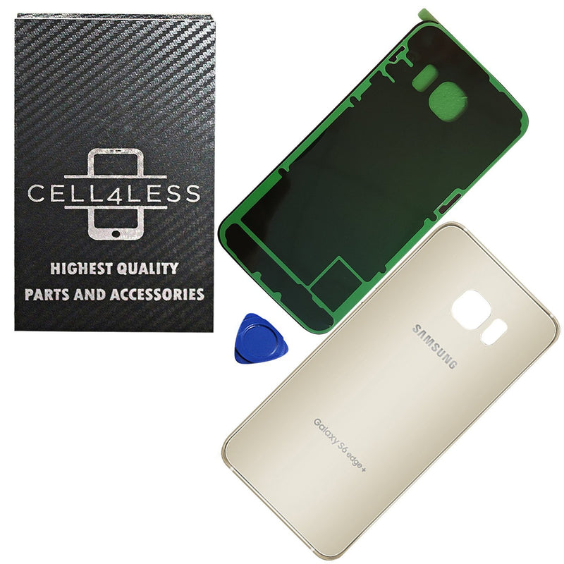 Samsung Galaxy S6 Edge+ Back Glass OEM Replacement Battery Door Cover w/ Preinstalled Adhesive G928 - CELL4LESS