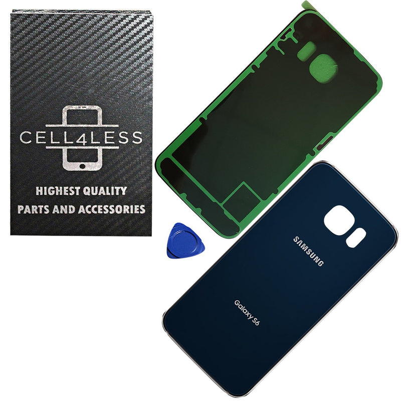 Samsung Galaxy S6 OEM Replacement Back Glass Cover Back Battery Door w/ Pre-Installed Adhesive G920 - CELL4LESS