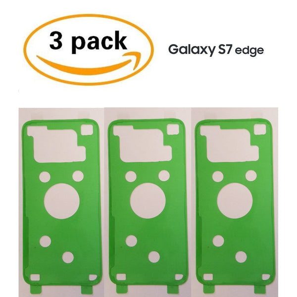 Adhesive (3 pack) for Back Glass Battery Door Replacement - S7 edge - CELL4LESS
