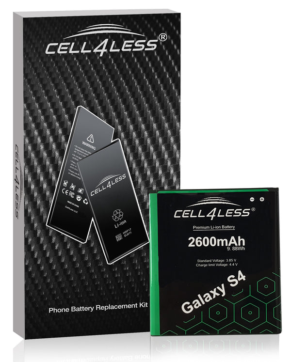 Samsung Galaxy S4 Battery Replacement Kit Compatible with SCH-I545, SGH-I337, SPH-L720 & More - 2600 mAh (Samsung Galaxy S4) - CELL4LESS
