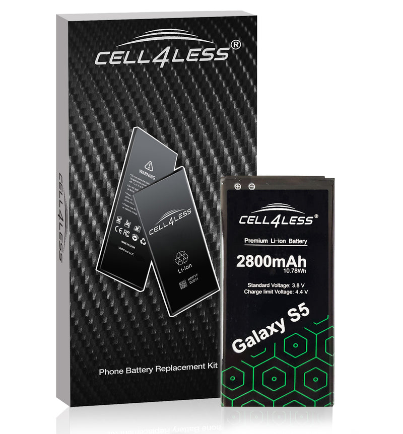 Samsung Galaxy S5 Battery Replacement Kit Compatible with SM-G900 Models - 2800 mAh (Samsung Galaxy S5) - CELL4LESS