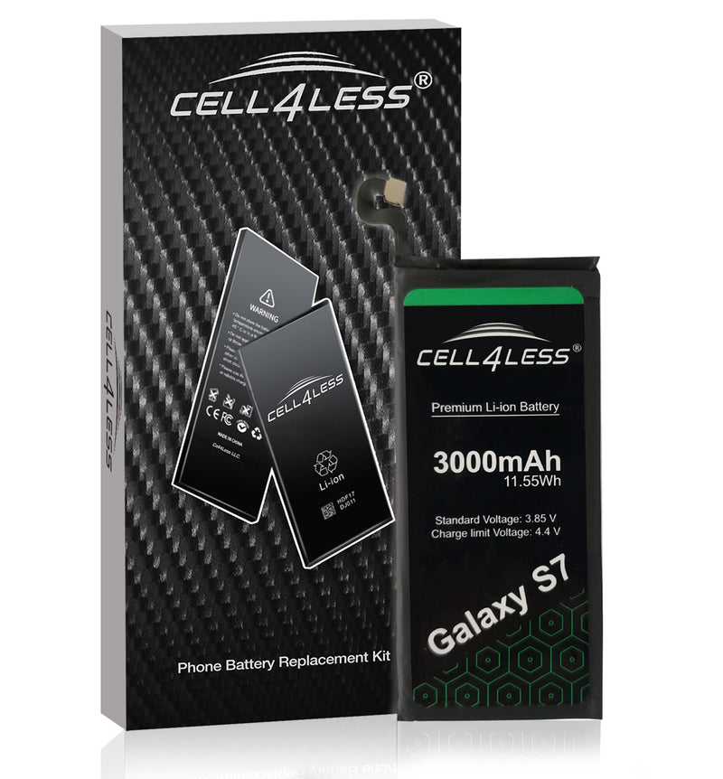 Samsung Galaxy S7 Battery Replacement Kit Compatible for SM-G930 Models - 3000 mAh (Samsung Galaxy S7) - CELL4LESS