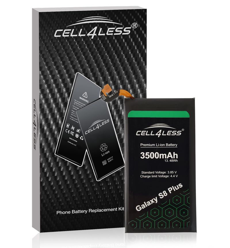Samsung Galaxy S8+ Plus Battery Replacement Kit Compatible with SM-G955 Models - 3500 mAh (Samsung Galaxy S8+ Plus) - CELL4LESS