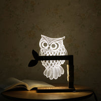 Night Light 3D Acrylic Owl