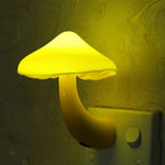 Night Light Mushroom Wall Socket Lights Lamp