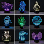 3D Star Wars Desk Lamp
