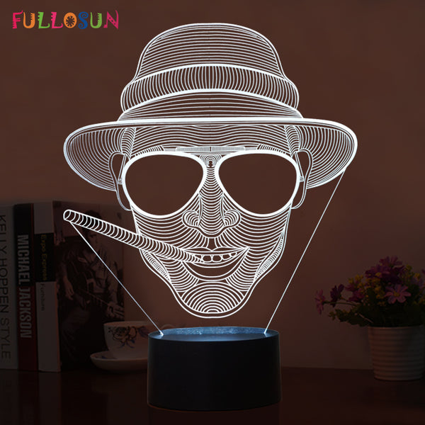 Novelty 3D Night Light – Smoking Man