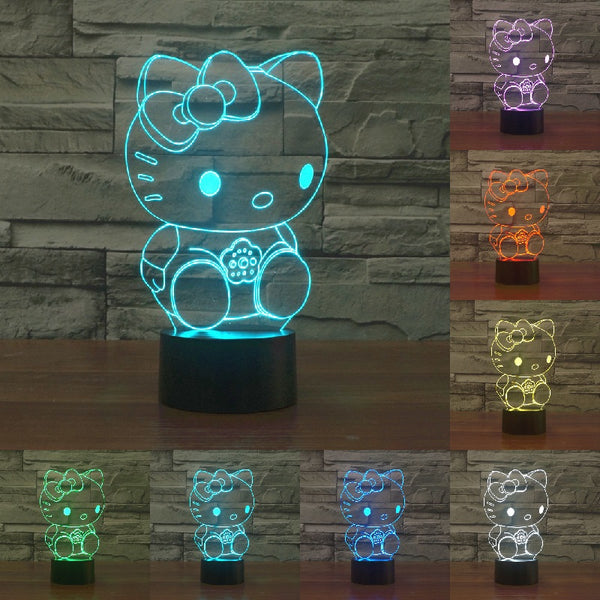 Kids Night Lights 3D Hello Kitty Color