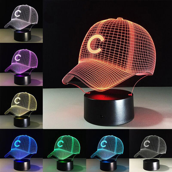 Chicago Cubs NFL Hat Night Light