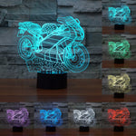 3D Motorcycle LED Lamp