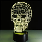 3D Night Light Skull