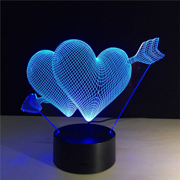 3D Night Light love