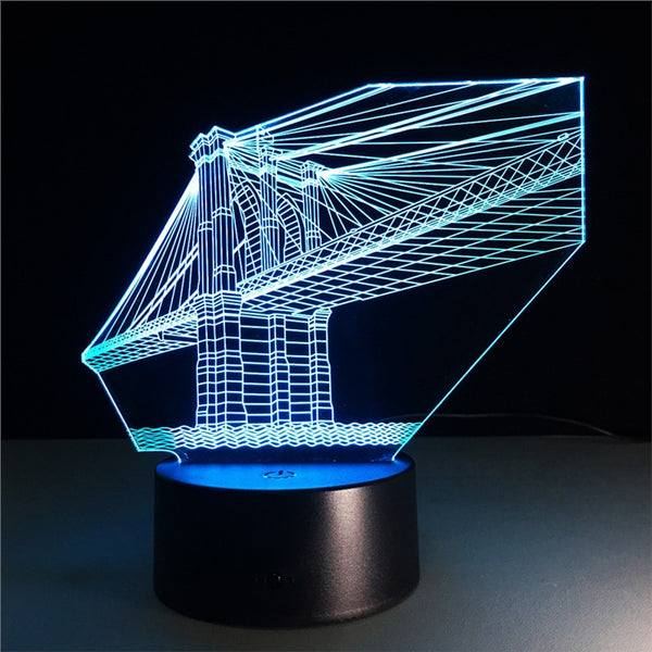 Kids Night Lights 3D Night Light Bridge