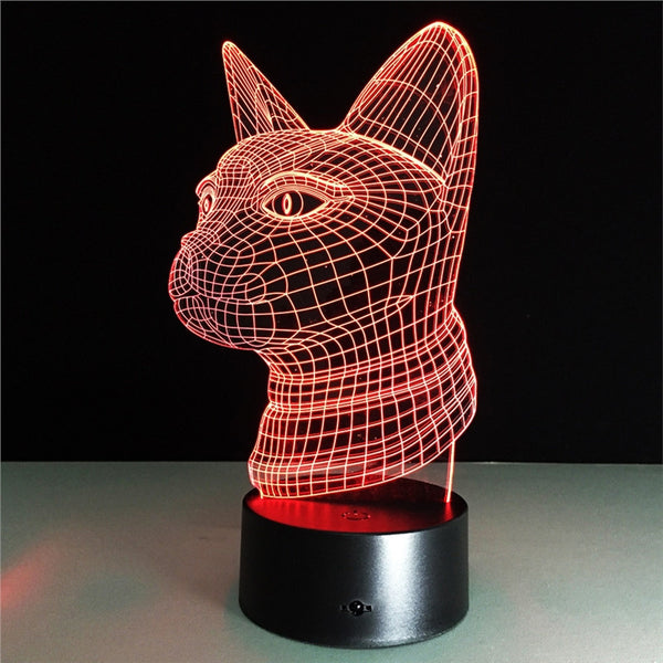 Kids Night Lights 3D Night Light Cat