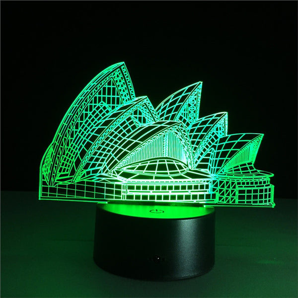 3D Night Light Sydney Australia
