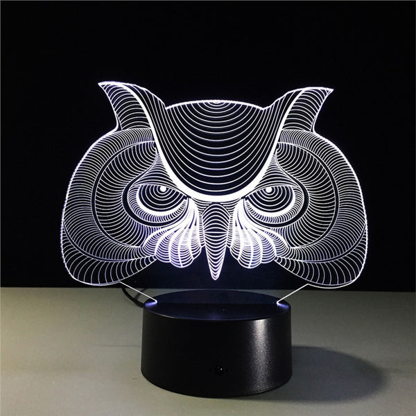 Kids Night Lights 3D Night Light Bird Owl