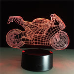 3D Night Light Motorcycle