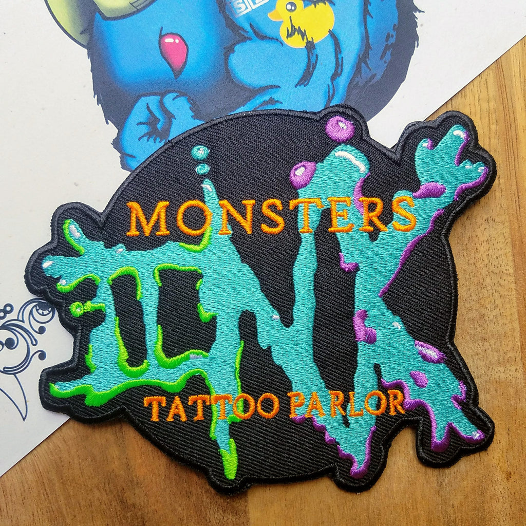 Monsters Ink Iron-on Patch Inspired by Disney's Monsters Inc - Obscure Disney